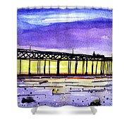 Dusk Pier Shower Curtain