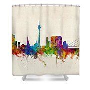 Dusseldorf Germany Skyline Shower Curtain