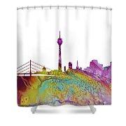 Dusseldorf Skyline 3 Shower Curtain
