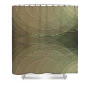 Dust Semi Circle Background Horizontal Shower Curtain