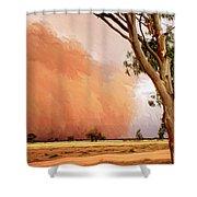 Dust Storm Shower Curtain