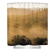 Dust Storm In The Desert Shower Curtain