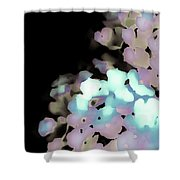 Dusty Rose Pink Aqua 2 Shower Curtain