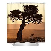 Dusty Sunset Over The Mara Shower Curtain