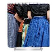 Dutch Dancers In A Huddle Shower Curtain
