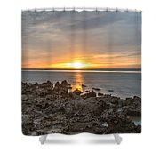 Dutch December Beach 002 Shower Curtain