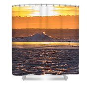 Dutch December Beach 003 Shower Curtain
