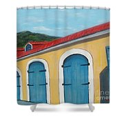 Dutch Doors Of St. Thomas Shower Curtain
