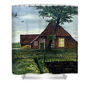 Dutch Farm At Dusk Shower Curtain