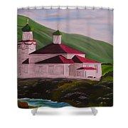 Dutch Harbor Church Shower Curtain