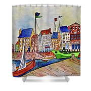 Dutch Harbor Shower Curtain