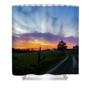 Dutch Lane In Evening Sky Shower Curtain