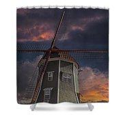 Dutch Windmill In Lynden Washington State At Sunset Shower Curtain