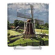 Dutch Windmill Near The Zuider Zee Shower Curtain