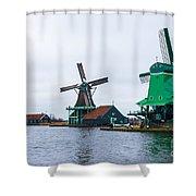 Dutch Windmills 1 Shower Curtain