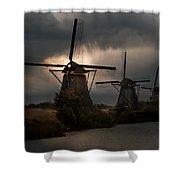 Dutch Windmills In Kinderdjik Shower Curtain