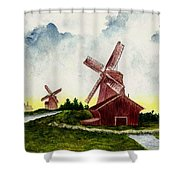 Dutch Windmills Shower Curtain