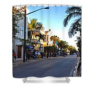 Duval Street In Key West Shower Curtain by Susanne Van Hulst
