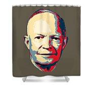 Dwight D. Eisenhower Pop Art Shower Curtain