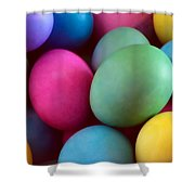 Dyed Easter Egg Abstract Shower Curtain