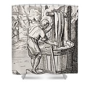 Dyer. 19th Century Reproduction Of 16th Shower Curtain