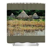 Dyflin Viking Village, Ireland Shower Curtain