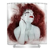 Dying Flower Shower Curtain