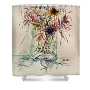 Dying Meadow Shower Curtain