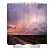 Dying Supercell Shower Curtain