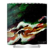Dying Swan-abstract Shower Curtain
