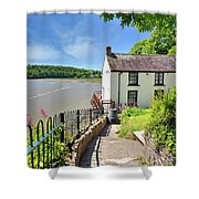 Dylan Thomas Boathouse 4 Shower Curtain