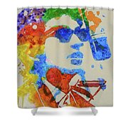 Dylan Watercolor Shower Curtain