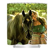 Dylly And Lizzy Shower Curtain
