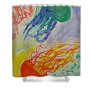 Dynamic Drifters Shower Curtain