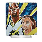 Dynamic Duo - Durant And Curry Shower Curtain