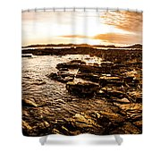 Dynamic Ocean Panoramic Shower Curtain