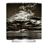 Dynamic Sunset - Sepia Shower Curtain