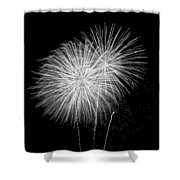 Bang Bang Black And White  Shower Curtain
