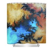 Dynasty Expressionist Painting Shower Curtain