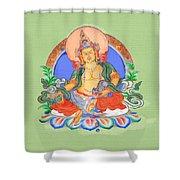 Dzambala The Buddha Of Wealth Shower Curtain
