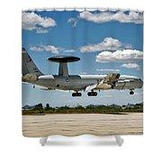 E-3 Sentry A W A C S Shower Curtain