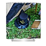 E Company Black Hat Shower Curtain