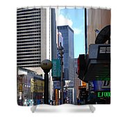 E Food  Taxi  New York City Shower Curtain