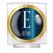 E For Echo Shower Curtain