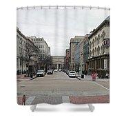 E Street Panorama Shower Curtain