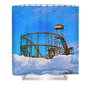 E Ticket Ride Shower Curtain