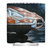 E-type Jaguar Shower Curtain