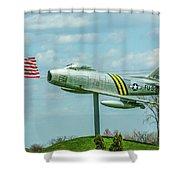 Eaa F-86 Sabre Shower Curtain