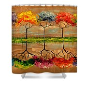 Each Tree By Its Smell Shower Curtain