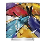 Eagle And Doves Abstract 1510 Shower Curtain